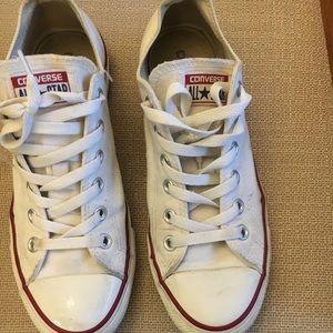 White Converse women's size 9